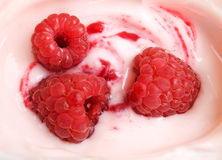 Raspberry yoghurt Royalty Free Stock Images