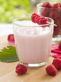 Raspberry yogurt Stock Photos