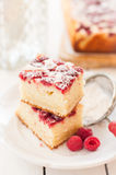 Raspberry and Yogurt Cake Royalty Free Stock Images