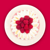 Raspberry Yogurt Cake Top Stock Images