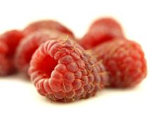 Raspberry in zoom Stock Image