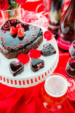 Raspbeverly Flourless Cake. Chocolate beer and wine pairings. Raspbeverly Flourless Cake with Zinfandel wine and Funkwers Raspberry beer for Valentines day Stock Images