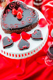 Raspbeverly Flourless Cake Royalty Free Stock Photo
