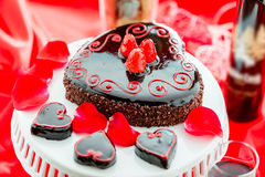 Raspbeverly Flourless Cake Royalty Free Stock Photos
