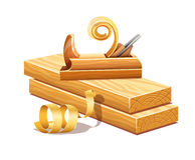 Rasped деревянные доски более плоскими sawdusts инструмента и опиловок Стоковая Фотография RF