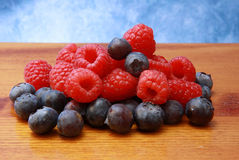 Rasperry and bluberry Stock Photography