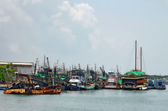 Rassada Pier on Phuket. Rassada Pier is the main harbour of Phuket, in the Andaman Sea, Thailand royalty free stock photo