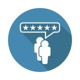 Rassegne del cliente, valutazione, icona di vettore di concetto di reazioni dell'utenza Immagine Stock