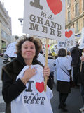 Rassemblement à l'appui des grands-mères Photographie stock libre de droits
