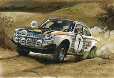 Rassemblement à l'est africain 1972 de Ford Escort MkI RS1600 illustration de vecteur