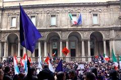 Rassemblement à la défense de la constitution italienne, Mila Photographie stock
