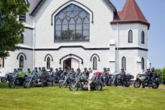 Rassemblement 2012 de moto d'Atlanticade Images stock