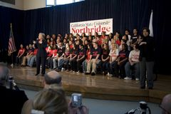 Rassemblement 25 de Hillary Clinton Images libres de droits