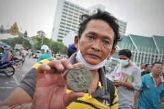 Rassemblement anti-gouvernement à Bangkok Image libre de droits