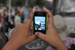 Rassemblement anti-gouvernement à Bangkok Photos stock