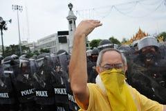 Rassemblement anti-gouvernement à Bangkok Image stock