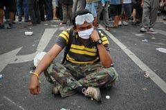 Rassemblement anti-gouvernement à Bangkok Photo libre de droits