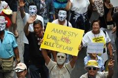 Rassemblement anti-gouvernement Photo libre de droits
