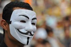 Rassemblement anti-gouvernement de groupe de l'armée populaire à Bangkok Images stock
