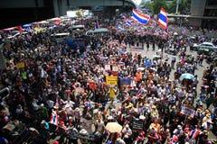 Rassemblement anti-gouvernement de protestataire thaïlandais Photographie stock