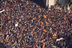 Rassemblement catalan de l'indépendance Images stock