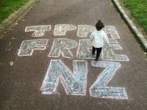 Rassemblement contre l'accord commercial de TPPA à Auckland Photo libre de droits