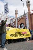 Rassemblement contre la BNP à Londres, 20 juin 2010 Photo stock