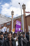 Rassemblement contre la BNP à Londres, 20 juin 2010 Image libre de droits