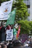 Rassemblement contre la BNP à Londres, 20 juin 2010 Photos stock