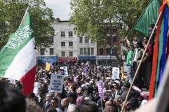 Rassemblement contre la BNP à Londres, 20 juin 2010 Photos libres de droits