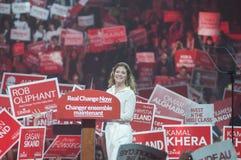 Rassemblement d'élection de Justin Trudeau Image libre de droits