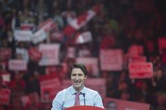 Rassemblement d'élection de Justin Trudeau Photographie stock