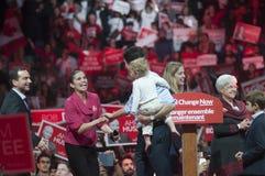 Rassemblement d'élection de Justin Trudeau Images stock