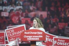 Rassemblement d'élection de Justin Trudeau Images libres de droits