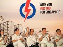 Rassemblement d'élections générales de Singapour 2015 Images stock