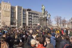 rassemblement d'Anti-corruption à Moscou le 26 mars 2017 Image libre de droits