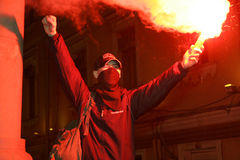 Rassemblement d'Anti-Kremlin à Moscou Image stock