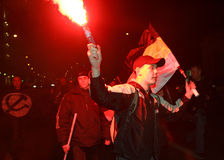 Rassemblement d'Anti-Kremlin à Moscou Photos stock