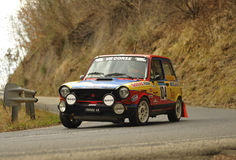 Rassemblement d'Autobianchi A112 Abarth Photos stock