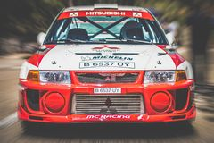 Rassemblement d'evo de Mitsubishi Photographie stock libre de droits
