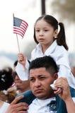 Rassemblement d'immigration à Washington Photos stock