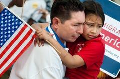 Rassemblement d'immigration à Washington Image libre de droits