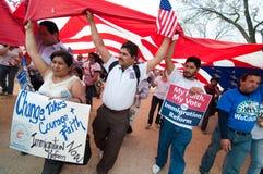 Rassemblement d'immigration à Washington Images stock