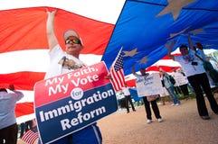 Rassemblement d'immigration à Washington Photographie stock