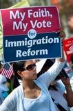 Rassemblement d'immigration à Washington Photo stock