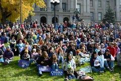 Rassemblement d'Obama Image libre de droits