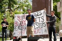 Rassemblement d'Ottawa pour des libertés civiles Images stock