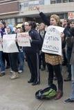 Rassemblement d'Union-Droits d'UW-Milwaukee photos libres de droits