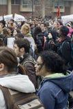 Rassemblement d'Union-Droits d'UW-Milwaukee image libre de droits