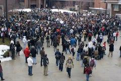 Rassemblement d'Union-Droits d'UW-Milwaukee photographie stock libre de droits